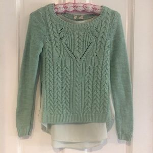 Moth Anthropologie Mint Sweater